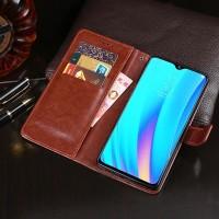 Flip Leather Case Realme 3 Flipcase Cover Wallet Dompet Kulit
