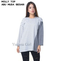 Monellina Fashion Baju Tunik Salur Kombi Murah Wanita FL-1261-NP