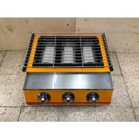 3-Head BBQ Roaster/ Pemanggang Tanpa Asap ETON ET-K122 (Cover Kaca)