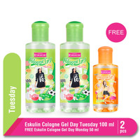Twinpack Eskulin Cologne Gel Day Tuesday 100 ml FREE ECG Monday 50 ml