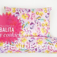 Bantal Guling Balita Premium / Toddler set dengan mikrofiber kondisi
