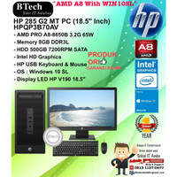 HP 285 G2 MT PC - HPQP3B70AV AMD A8-8650B/8GB/500GB/WIN10SL/1YR + V190