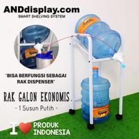 Grosir RAK DISPENSER 1 SUSUN PUTIH GALON EKONOMIS AIR MINUM