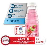Levite Minuman Berasa BEJEMIN: Berries, Jeruk & Mint 350mll (3 botol)