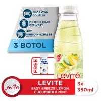 Levite Minuman Berasa MONTIMIN: Lemon, Timun & Mint 350ml (3 botol)