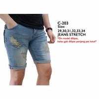 Celana pendek jeans pria C-203 LR