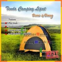 Tenda Camping Dome Kapasitas 4 Orang Dengan Alas Tenda Lipat Super .