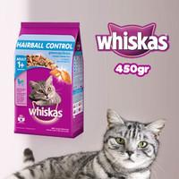 Whiskas Dry Adult 1+ Hairball Chicken & Tuna Flavour 450gr