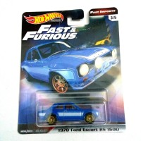 Hot Wheels Ford Escort RS Biru Hotwheels Fast and Furious