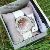 Jam Tangan Wanita Guess W1098L1 white silver Original Garansi 1 Tahun