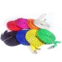 PROMO Kabel Modl Tali Sepatu 3 Meter Micro USB BERKUALITAS