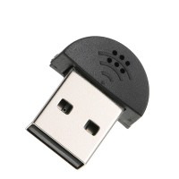 Dongle Adapter Usb 2.0 Mini Microphone Untuk Laptop Desktop Pc Skype /