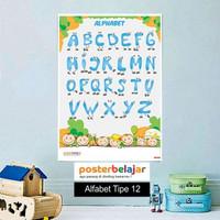 Poster Belajar Seri Alfabet tipe 12 Mainan Anak Edukatif Edukasi