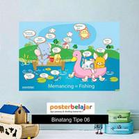 Poster Belajar Seri Binatang tipe 06 Mainan Anak Edukatif Edukasi