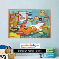 Poster Belajar Seri Benda di Kamar tipe 01 Mainan Anak Edukatif