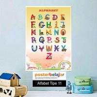 Poster Belajar Seri Alfabet tipe 11 Mainan Anak Edukatif Edukasi