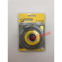 Sikat Piring / Circular Wire Brush 4 inch HASSTON