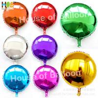 Balon Foil Round Bulat Polos Bola 18 Inch