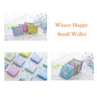 DK010 Dompet Winter Happy Small Wallet/ Coin Wallet