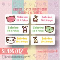 SLNBS-012 stiker label nama anak kartun sticker anti air princess lucu
