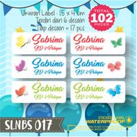SLNBS-017 stiker label nama anak kartun sticker anti air princess lucu