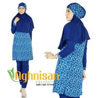 Baju Renang Muslimah Biru / Baju Renang Aghnisan / Baju Renang Syari