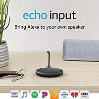 Echo Input – Smart device that brings Alexa to your speaker - Black