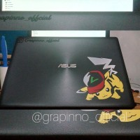 Decal Sticker Pokemon Pikachu Stiker Anime untuk Laptop Kaca Mobil PC