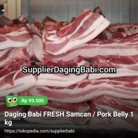 Daging Babi FRESH Samcan / Pork Belly 1 kg
