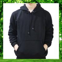 SIZE XXL - Jaket Hoodie Jumper Sweater Polos Hitam Kualitas Distro