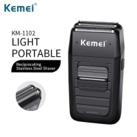 Kemei KM-1102 Rechargeable Dual-Net Reciprocating Alat Cukur Kumis