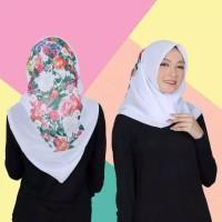 Hijab Khimar Kerudung Bella Square Motif Lukis TerBaru Murah