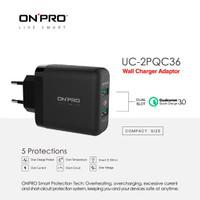 ONPRO UC-2PQC36 Adaptor Charger Dual USB Quick Charge 3.0