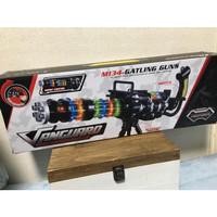 Mainan Pistol Vanguard M134-Laser Gattling Toy Gun