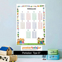 Poster Belajar Seri Perkalian Tipe 07 Mainan Anak Edukatif Edukasi