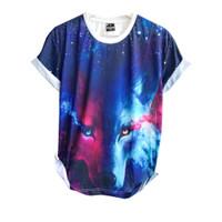 Baju Distro Kaos Printing 3D Import Bangkok New Blue Wolf Tshirt