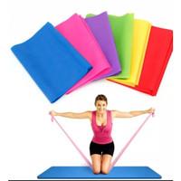 Y011 Elastic Karet Tension Resistance Stretch Band Gym Pilates Yoga