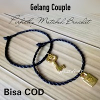 AThiToShop 2x Gelang Lock and Key Gelang Couple Gembok dan Kunci