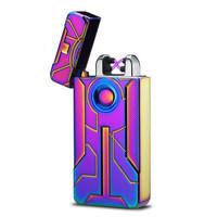 Korek Api Elektrik Iron Man Touch Pulse Plasma USB - PELANGI