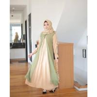 Baju Gamis Lebaran Muslimah Terbaru Gaun Pesta Dress Muslim Wanita 044