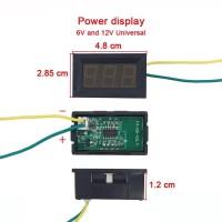 Power Display/ Indicator/Indikator Voltase Voltmeter