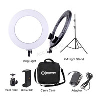 Ringlight LED Zomei RL 18 Bi-Color Ring Light 2 Warna Ringlite Komplit