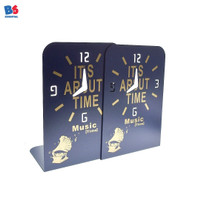 Book End Stretch Clock| Sandaran Penyangga Pembatas Buku Motif Jam