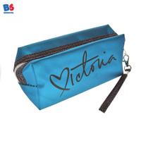 COSMETIC BAG VICTORIA BLUE | MULTI PURPOSE POUCH TAS KOSMETIK BIRU