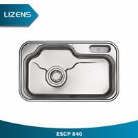 LIZENS ESCP840 SET 5 JUMBO BWL S.STEEL K.SINK+ACCS (wastafel dapur)