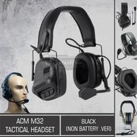 ACM M32 Tactical Headset Black (Non-Battery .Ver)