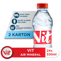 VIT Air Mineral 330ml Box (24x330ml) x 2 Box