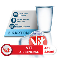 VIT Air Mineral 220ml Box (48x220ml) x 2 Box