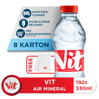 Beli 8 Box VIT Air Mineral 330ml GRATIS Handuk VIT