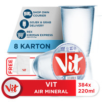 Beli 8 Box VIT Air Mineral 220ml GRATIS Handuk VIT